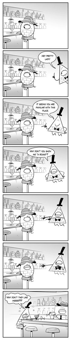 Gravity Falls Get it? by markmak Gravity Falls Funny, Gravity Falls Comics, Fandoms, Gavity Falls, Dipper And Mabel, Reverse Falls, Bill Cipher, Trust No One, Billdip