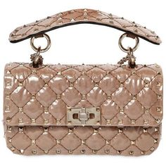 0497a242688c Valentino Women Small Spike Georgette & Pvc Shoulder Bag (5.995 BRL) ❤  liked on
