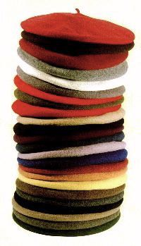 stack of Basque berets