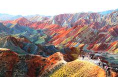 Zhangye Danxia Landform Geological Park in the Gansu Province, China
