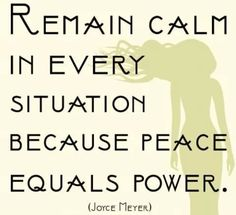 So true. If another person loses their cool but you remain calm, you instantly have the upper hand.