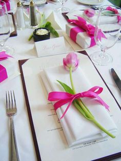 (gifts at each place setting)