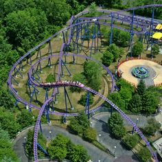 Unique view of one of the world's best roller coasters: Bizarro. Located at Six Flags New England. #SixFlags
