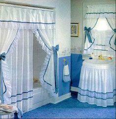 Resultado de imagen para cortinas de baño bordadas en cinta paso a paso
