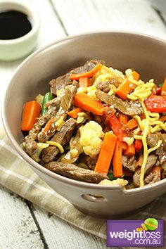 Honey Soy Beef & Vegetables . #HealthyRecipes #DietRecipes #WeightLossRecipes weightloss.com.au