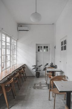 Cafe Interior, Contrast, Table, Furniture, Home Decor, Decoration Home, Room Decor, Cafe Interiors, Tables
