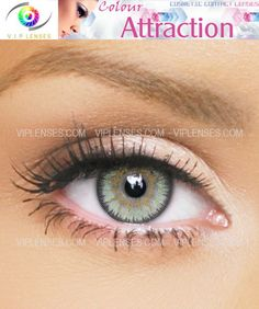 Chrysolite Color Attraction contact lenses add soft green colors to your eyes in a very natural way with fine detail.