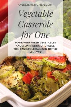 This is the best vegetable casserole recipe! Made with fresh vegetables and a sprinkling of cheese, this casserole bakes in just 30 minutes. It's quick, easy, and so delicious!