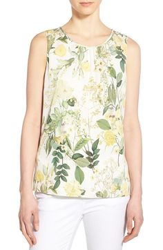 8a0026edc1 Classiques Entier® Botanical Print Stretch Silk Top (Regular   Petite)  available at