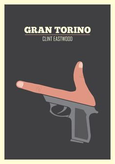 """""""Gran Torino"""" von und mit Clint Eastwood """"Ever notice how you come across somebody once in a while you shouldn't have fucked with? Minimal Movie Posters, Minimal Poster, Cinema Posters, Cool Posters, Clint Eastwood, Love Movie, I Movie, Bridget Jones, Chef D Oeuvre"""