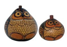 How can you ever go wrong with owls...and gourds?