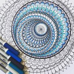 "2,824 Likes, 42 Comments - STAEDTLER (@staedtlermars) on Instagram: ""Work in progress of mini mandala doodles  by the talented @linesbylauren Show us how you doodle…"""