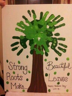 Strong roots hand prints