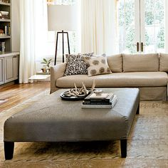 Oversize ottoman instead of coffee table