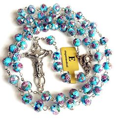Im sorry due to the limit of my camera I cannot present the complete beauty of this bead to you. If you have the chance to get this Rosary please dont forget to admire it under light.This Rosary will become part of your life! If you have any questions or you need more information about this or any other product please email me.Please take a moment to browse through the other lovely jewelry items in my store and add me to your list of favorites.  Features  elegantmedical HANDMADE CATHOLIC…