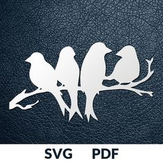 Four designs SVG / PDF cut file Paper Cutting Template image 6 Plotter Silhouette Cameo, Bird Silhouette Art, Bird Outline, Paper Cutting Templates, Paper Cutting Patterns, Paper Cutting Machine, Bird Template, Scroll Saw Patterns, Pdf Cut