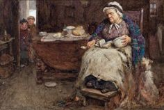 JOINING GRANDMA FOR TEA by JOHN HENRY HENSHALL