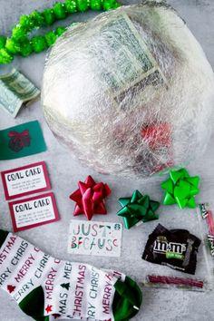 Lump of Coal Christmas Saran Wrap Game