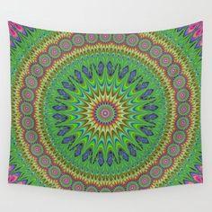 Spring star mandala Wall Tapestry by David Zydd #PrintedGift