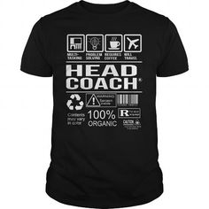 Awesome Tee For Head Coach - #tshirt serigraphy #sweater shirt. CHEAP PRICE => https://www.sunfrog.com/LifeStyle/Awesome-Tee-For-Head-Coach-105098564-Black-Guys.html?68278
