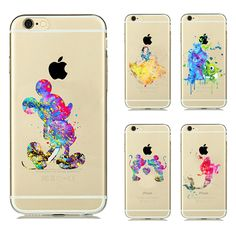Painted Fall für apple iphone 6 fall Cartoon Tier Kissing Mickey Minnie Maus Soft Clear TPU Fall für iphone 6 s Plus fall