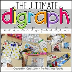This little packet was created to help introduce and reinforce consonant digraphs in the classroom. Digraphs ch, sh, th, wh, & ph are included in the activities in this little packet. First Grade Writing, Teaching First Grade, First Grade Teachers, First Grade Classroom, First Grade Math, Teacher Pay Teachers, Teacher Classroom Supplies, Classroom Ideas, First Grade Parade