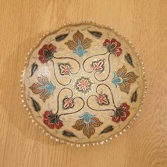 Solid brass bowl / dish  vintage  floral design  by UKAmobile