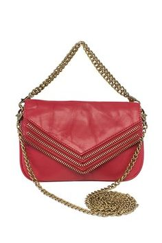 Matt & Nat Hendrix Chain Strap Bag I like the color and exposed zipper trim which makes it punky without being over the top. Only niggle, exposed zippers can scratch metal up. Vegan Clothing, Vegan Leather, Nordstrom, Shoulder Bag, Handbags, Purses, My Style, Red, Zippers