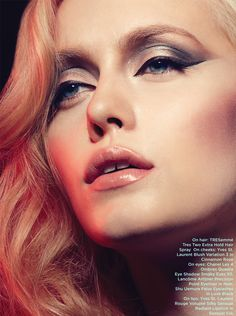 glamorous. fabulous. charming. Looks like Madonna a bit.