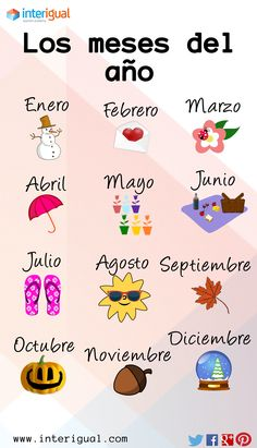 The months of the year - Spanish