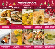 #Menú semanal de #Recetas #LaMasía: del 14 al 18 de diciembre.