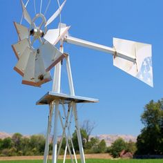 You can make a smaller version of this windmill with some scrap wood.