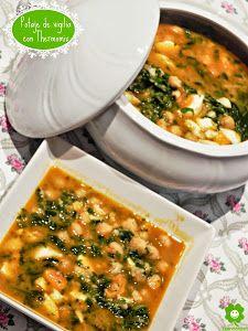 POTAJE DE VIGILIA CON THERMOMIX | Cocina A Food, Food And Drink, Kneading Dough, Smart Kitchen, Canapes, Chana Masala, Risotto, Stew, Food Processor Recipes