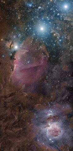 Horsehead Nebula is small- center, left.