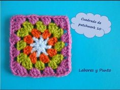 Aprende a tejer este cuadrado de patchwork 10 a ganchillo o crochet