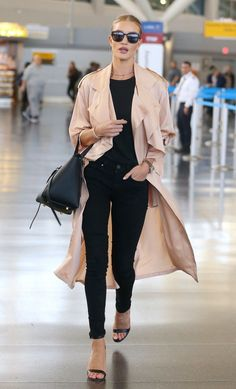 The most glam airport style from Rosie Huntington-Whiteley.