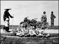 Robert Capa  - Indochina.  On the road from Namdinh to Thaibinh. May 25th, 1954. French soldiers.