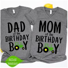 01683cb8 Mom and Dad of the Birthday Tractor svg, John Deere svg, Farm party svg