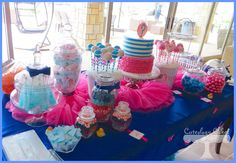 Tutus and Ties dessert table