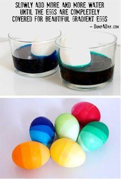 How to ombre easter eggs #decoratingeastereggs
