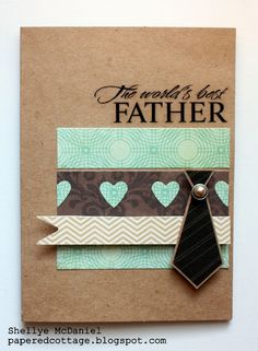 An easy to make Father's Day card with paper scraps and a tie sticker!