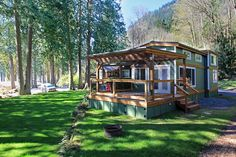 Wildwood Lakefront Cottage - Whidbey by West Coast Homes ~ I would love to find land on a lake & build something like this! Perfect getaway size to maintain!! Love it!