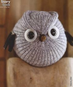 DIY Sock Owl === could be other bird as well