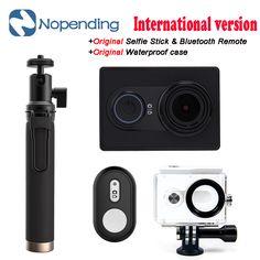 새로운 원래 xiaomi yi 액션 스포츠 카메라 샤오이시 와이파이 스포츠 카메라 16mp 60fps의 와이파이 ambarella 블루투스 국제 버전