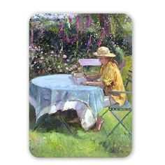The Morning Read, 1992 (oil on canvas) by.. - Mouse Mat Art247 Highest Quality Natural Rubber Mouse Mats - Mouse Mat