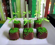 Minecraft Popcakes de chocolate