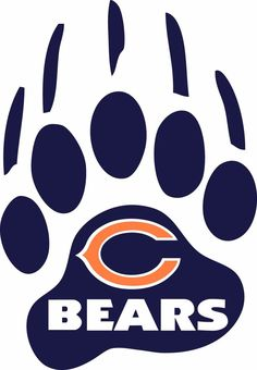 #Chicago #Bears Paw Logo  Window Wall Decal  Vinyl Car Sticker  Any Colors from $1.99