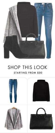 """Outfit #1544"" by lauraandrade98 on Polyvore featuring Frame, Jaeger, Yves Saint Laurent and MANGO"