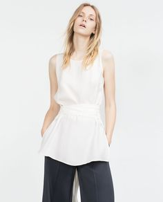 Image 1 of BELTED BLOUSE from Zara