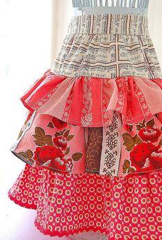 ruffled skirt apron